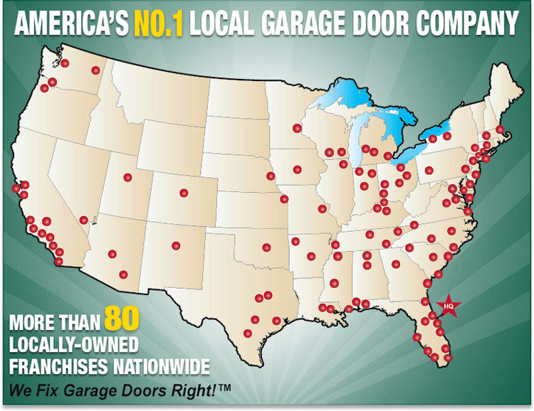 Precision Garage Door Coverage Map
