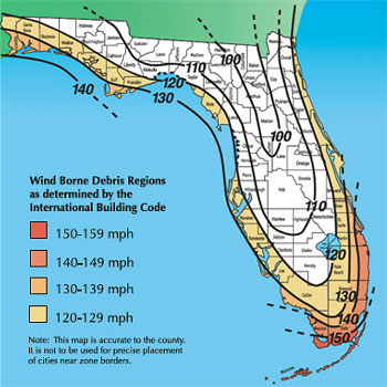 Hurricane Wind Zone Map